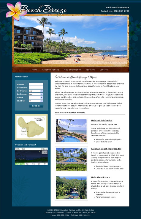 Beach Breeze Maui vacation rentals